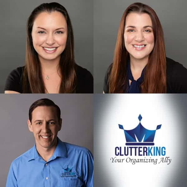 Our De-Cluttering Experts: Coley, Juliana, Justin.